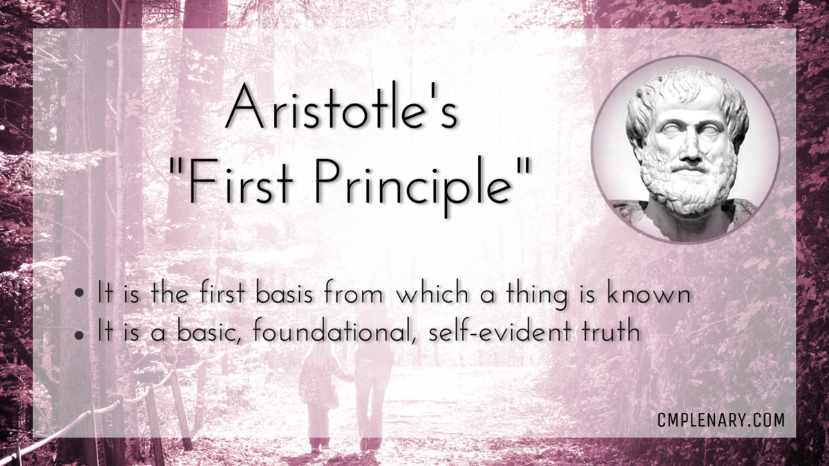 """""""First Principle"""" by Aristotle"""