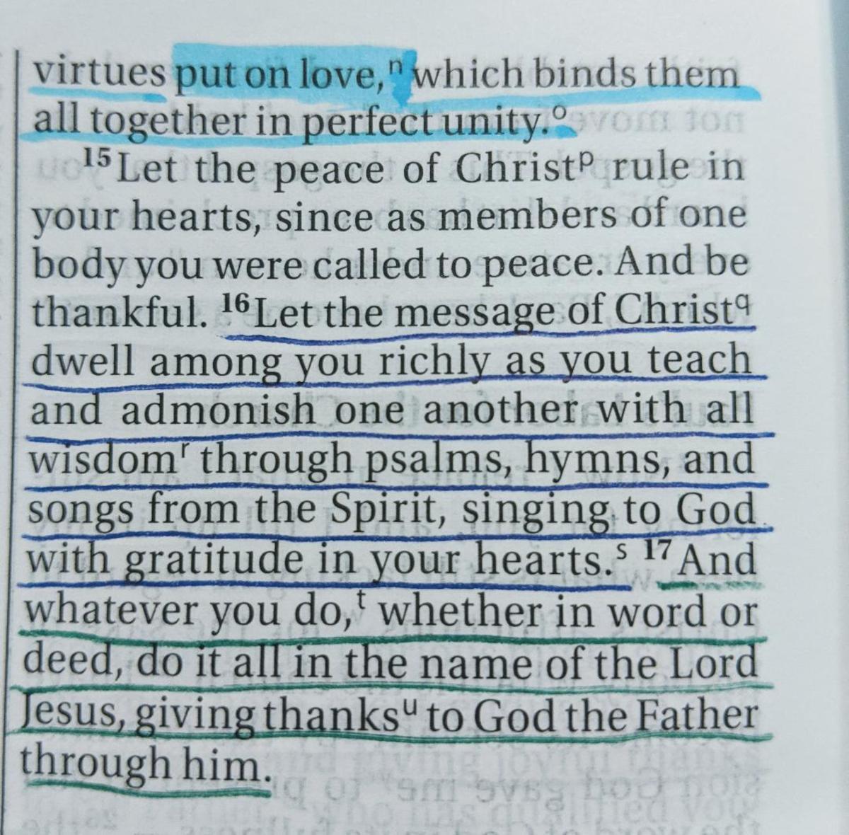 Colossians 3:15-17 NIV