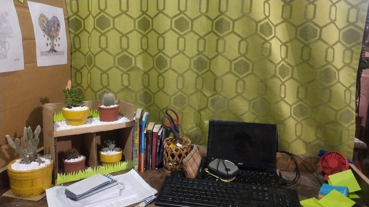 My own improvised work station