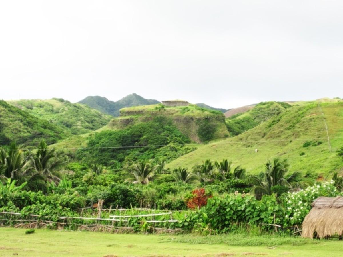The Ifjang as seen among the hills.