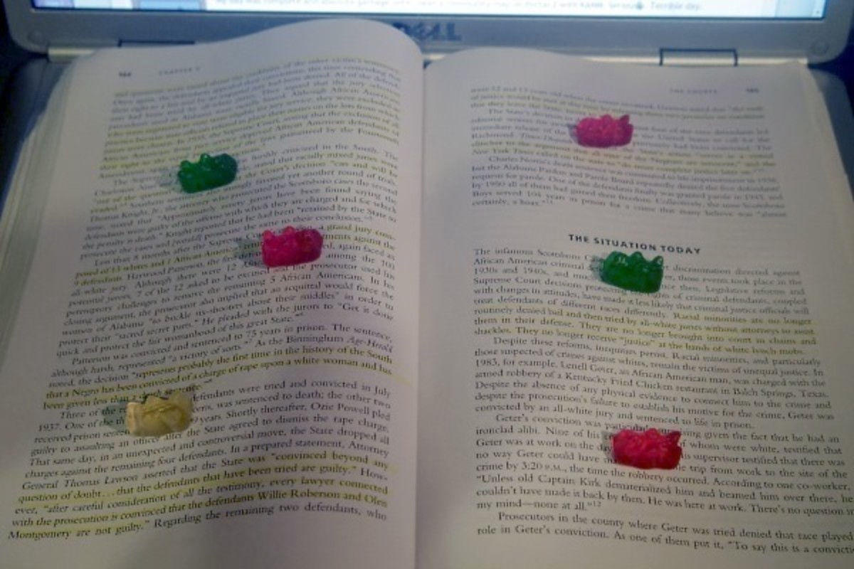 gummy bear incentives for studying