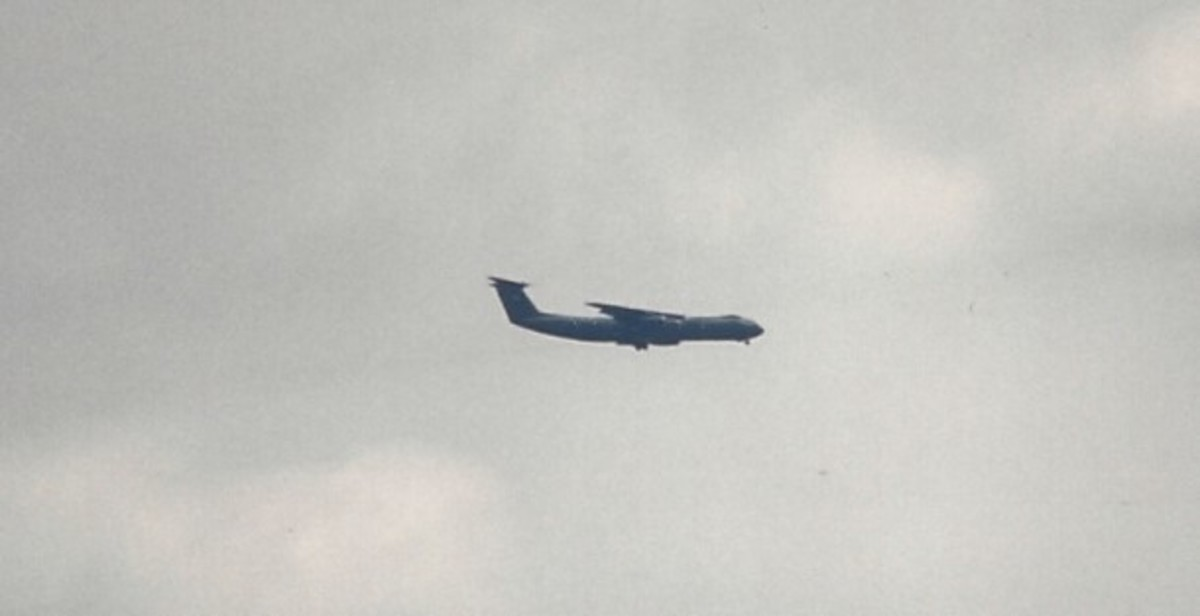 C-141B over Joint Base Andrews.