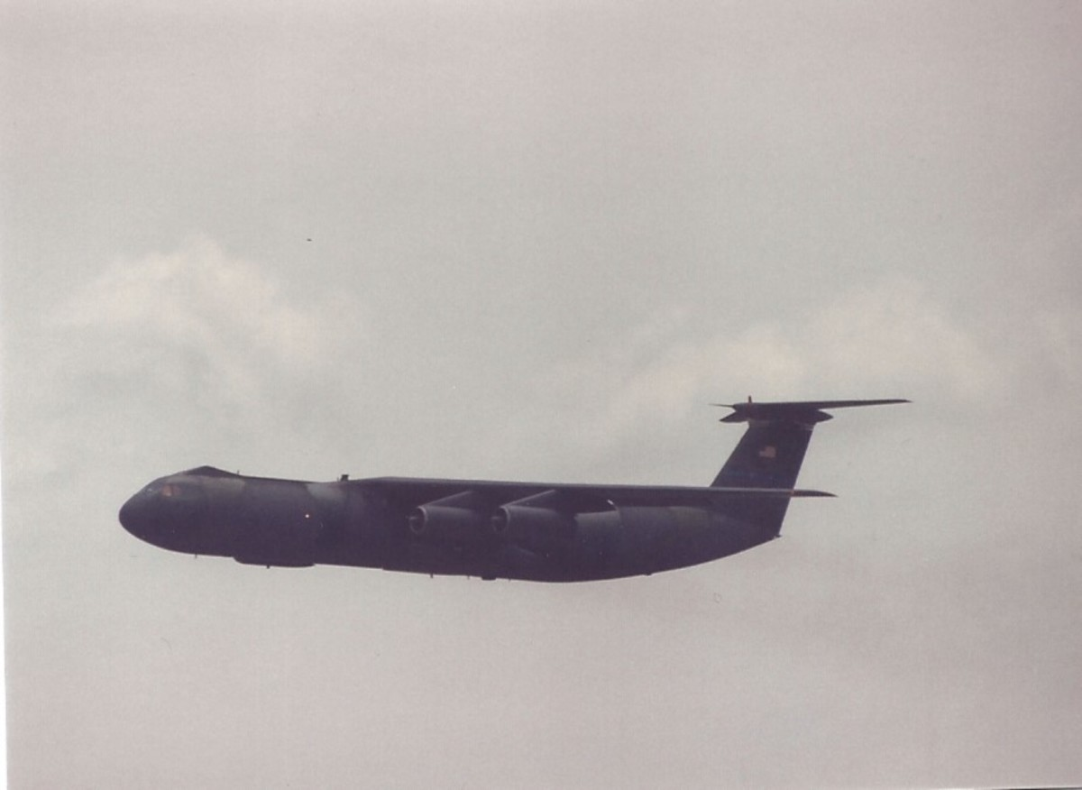 A C-141B at Joint Base Andrews, MD