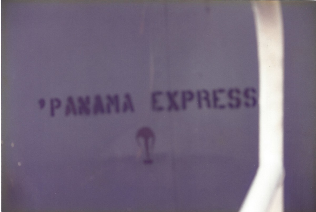 """""""Panama Express"""" on a C-141B, signifying it's participation in the invasion of Panama.  Joint Base Andrews, MD"""