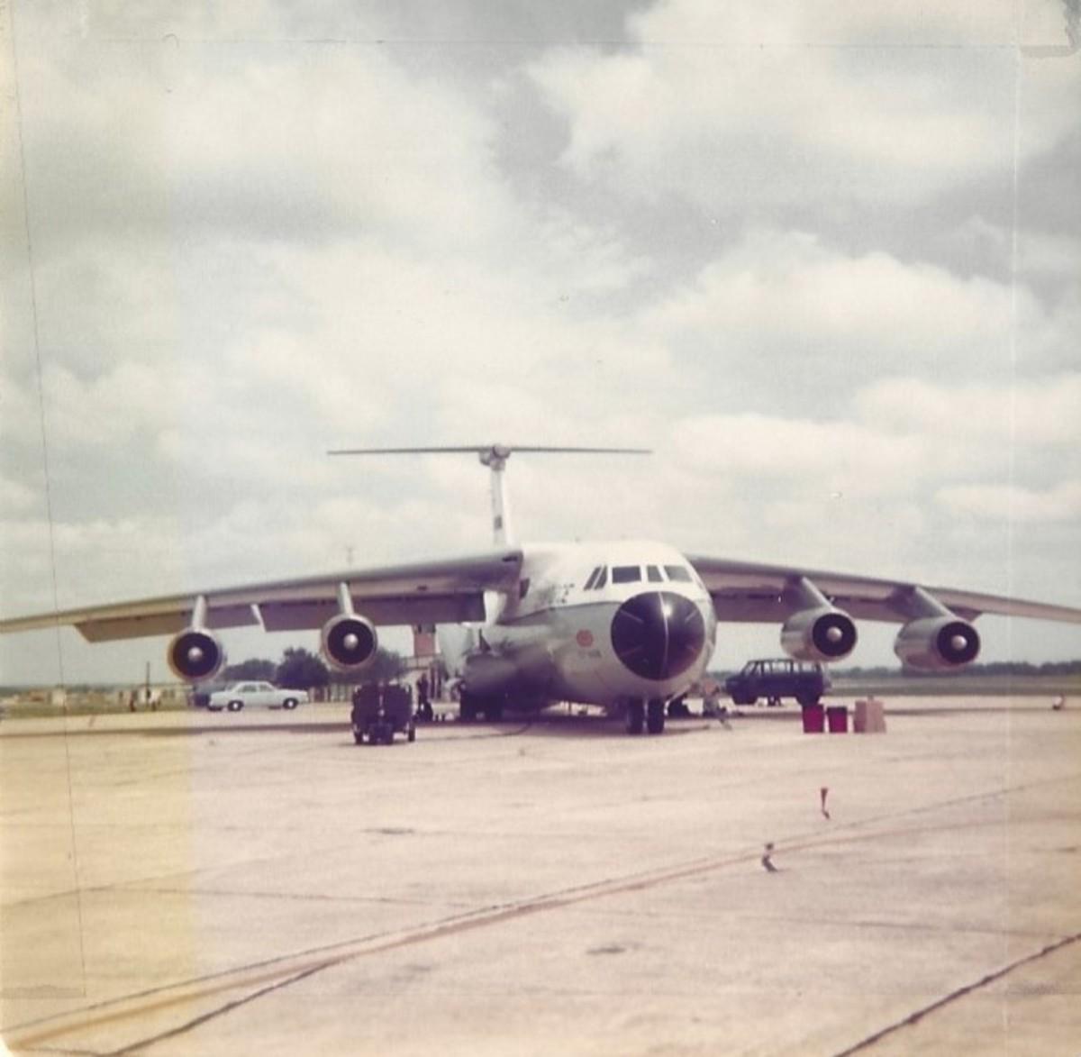 A C-141A at Randolph AFB, circa 1978.