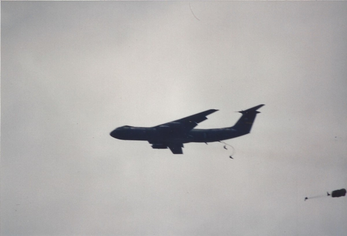 C-141B over Joint Base Andrews, MD