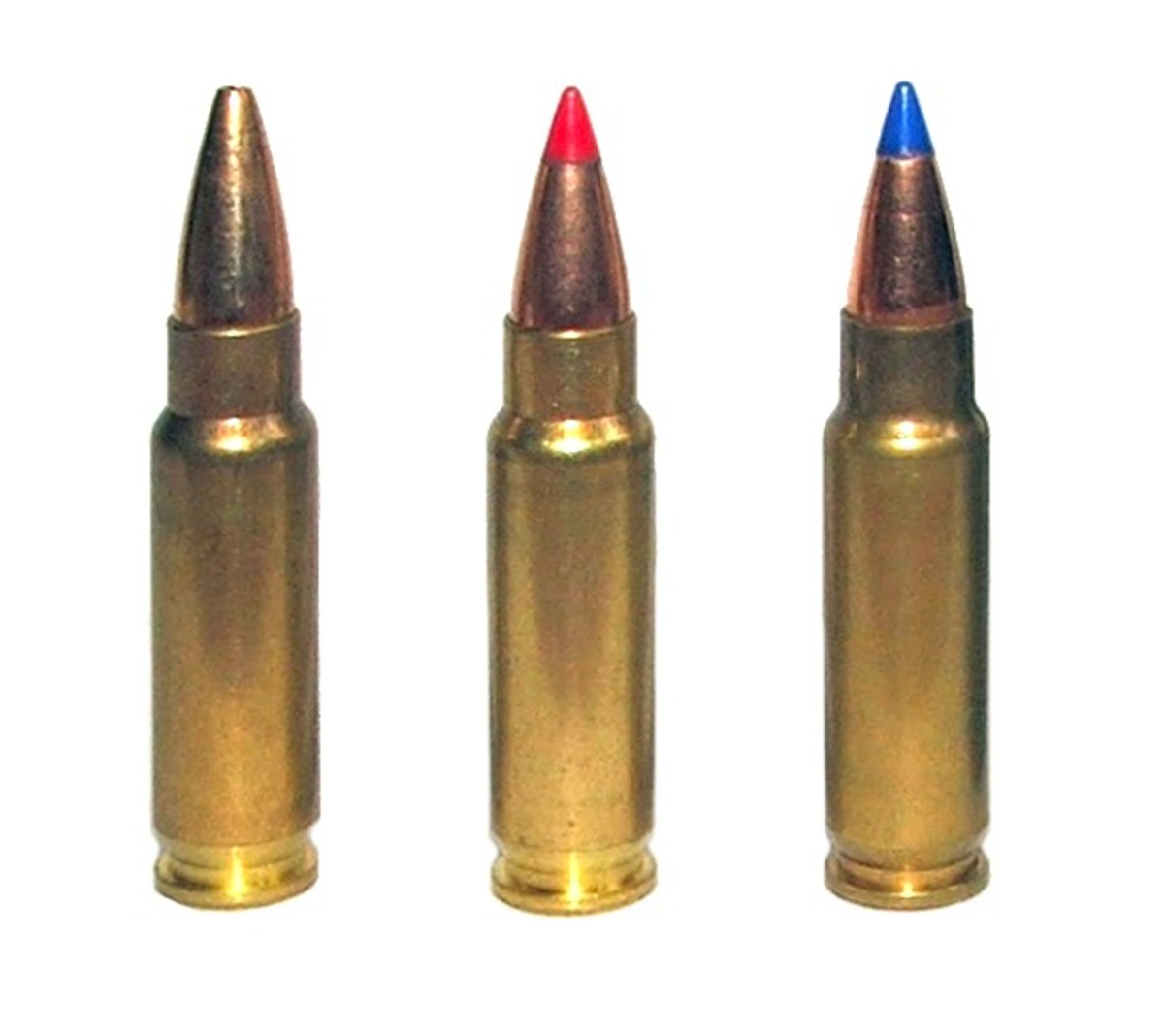 5.7×28mm SS195LF, SS196SR (Red), and SS197SR (Blue) respectively