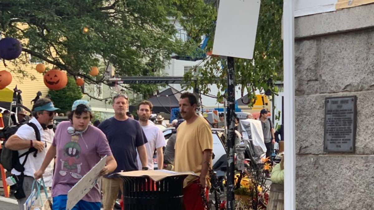 Sandler filming his newest Netflix deal movie