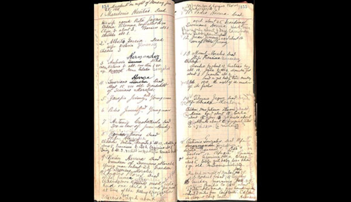 Page of Warren's Notebool