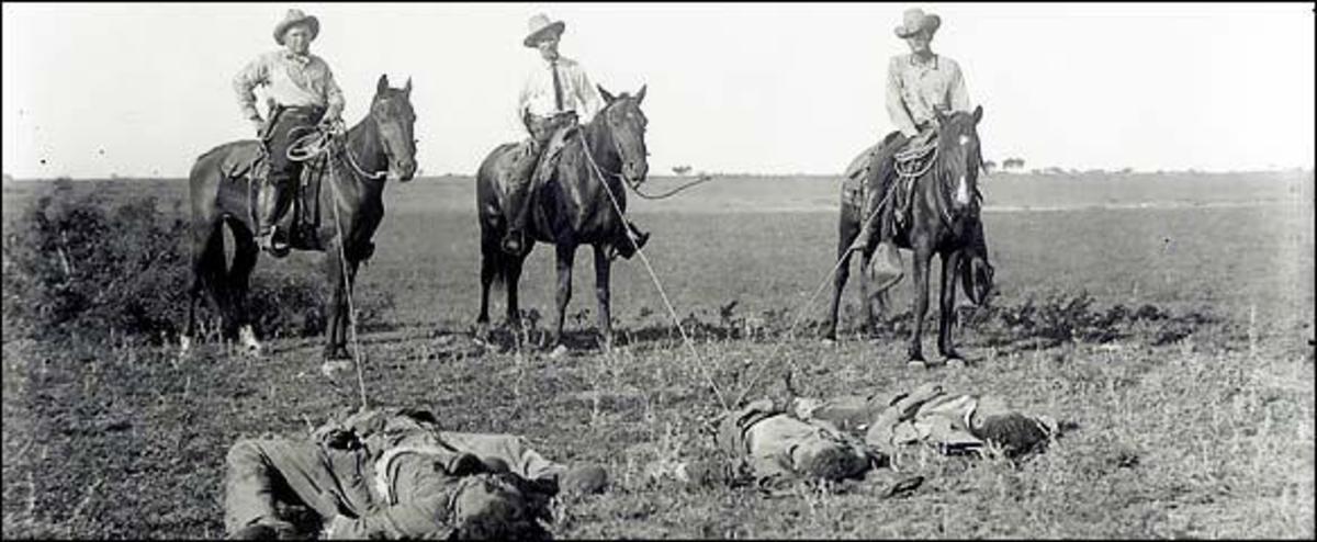 Massacre at Porvenir, 1918 by the Texas Rangers Co. B