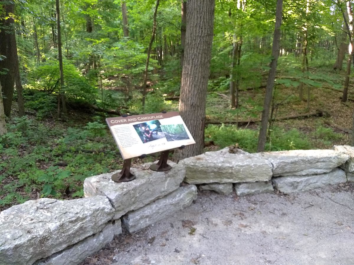 Along the 1.5-mile trail there are numerous plagues providing the history of the battle and information about the times and the aftermath.
