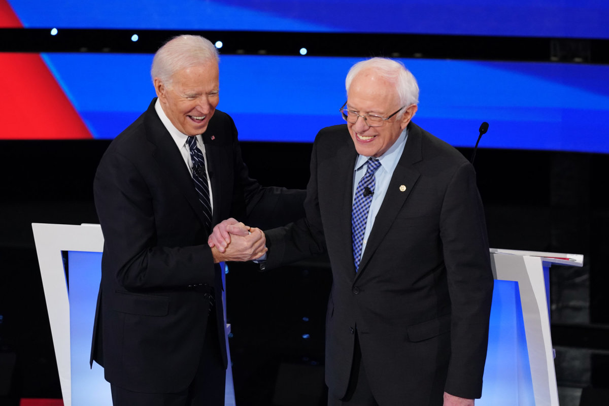 Socialist Bernie Sanders Endorsing Joe Biden