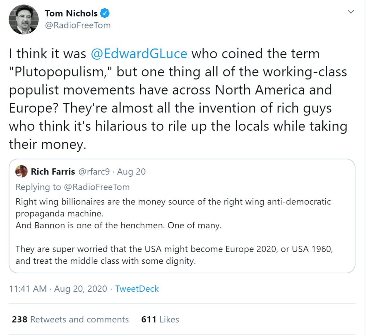 What Is Pluto-populism?