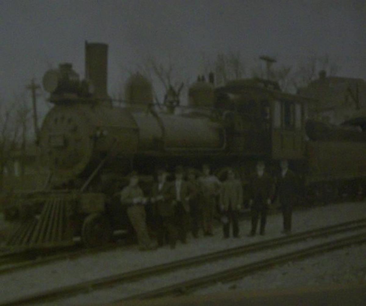 Train car parked near where Tate's general store was