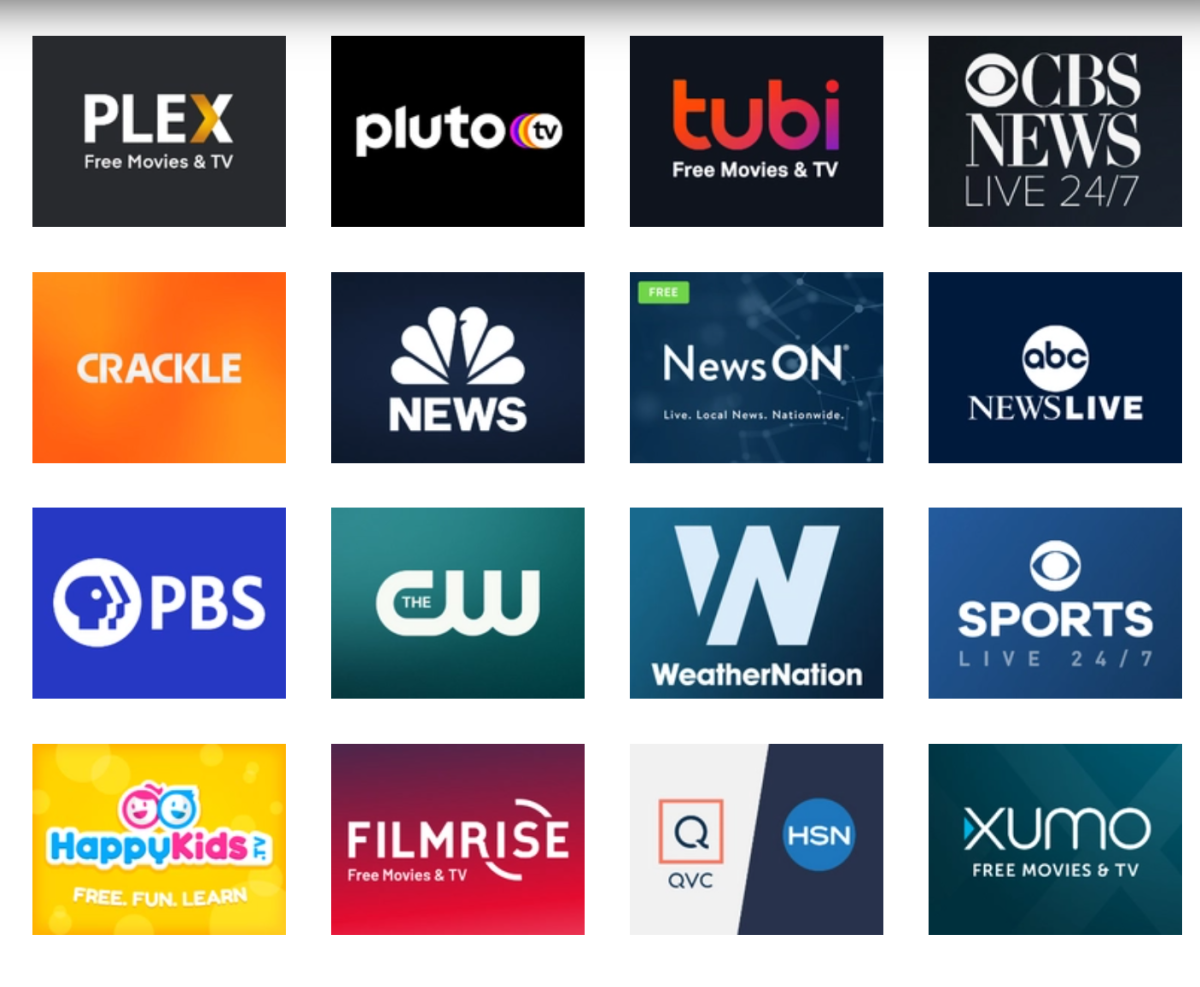 The top 100 video streaming services can be watched on Roku, Tivo Stream 4K, Amazon Firestick, smart televisions, and on tablets and smartphones