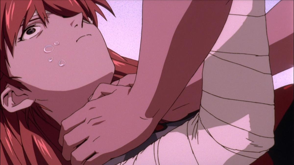 Shinji, expressing his love to Asuka.