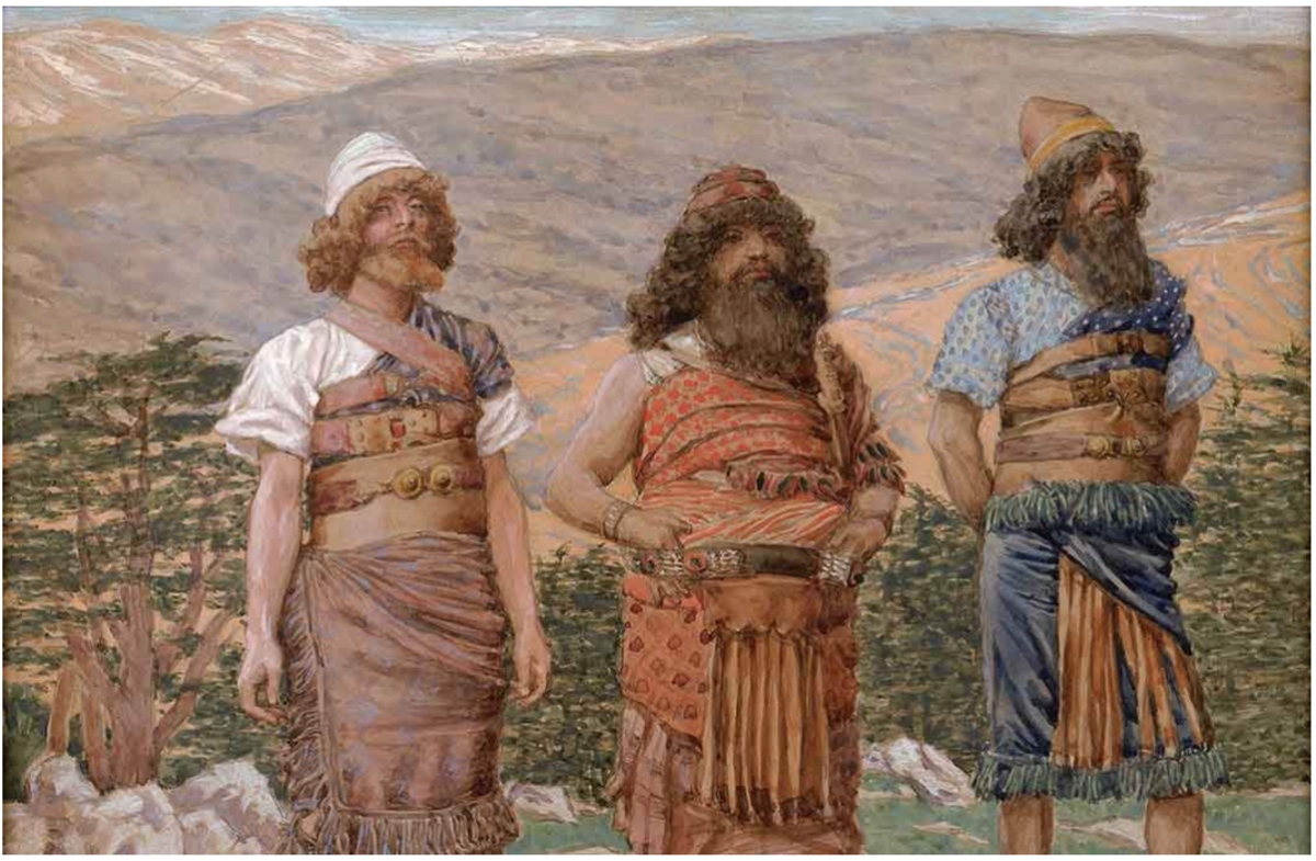 Shem, Ham and Japheth, from The Old Testament, James Jacques Joseph Tissot, French, 1836-1902.