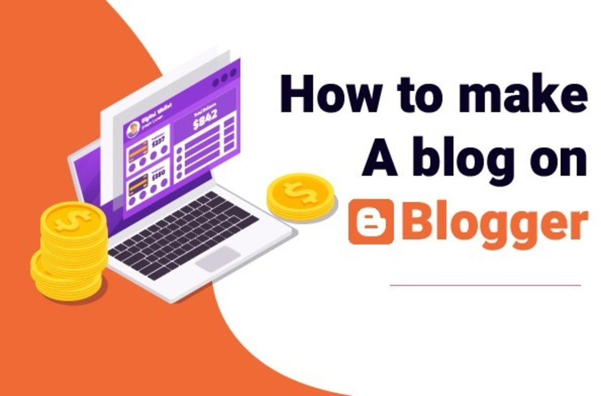 how to make a blog on blogger - title image