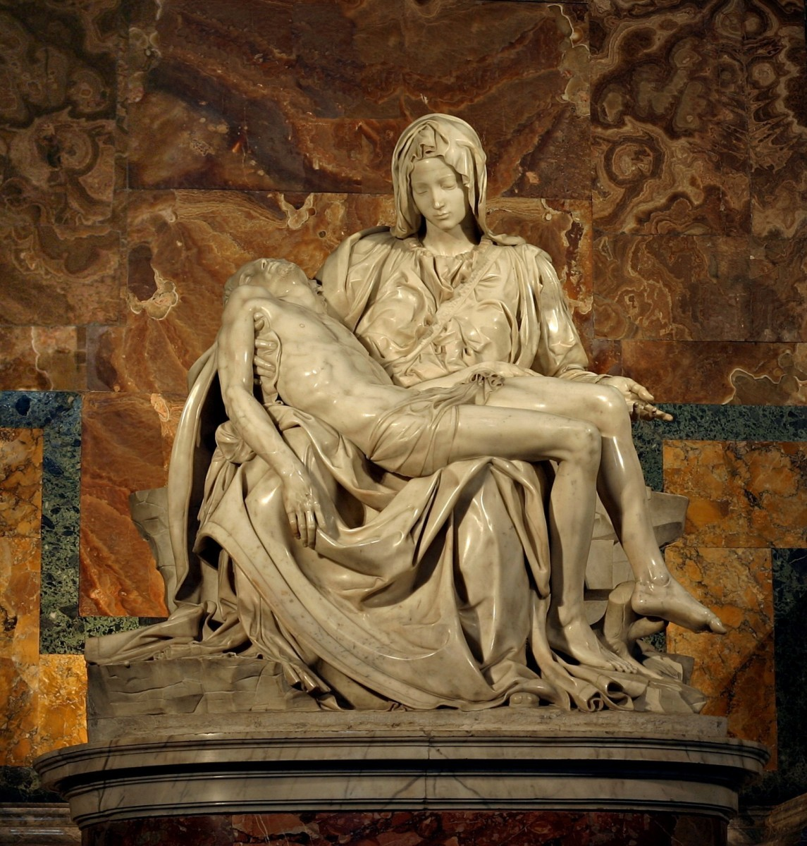 Michelangelo's Pieta, a sculpture of similar style to many described in Piranesi