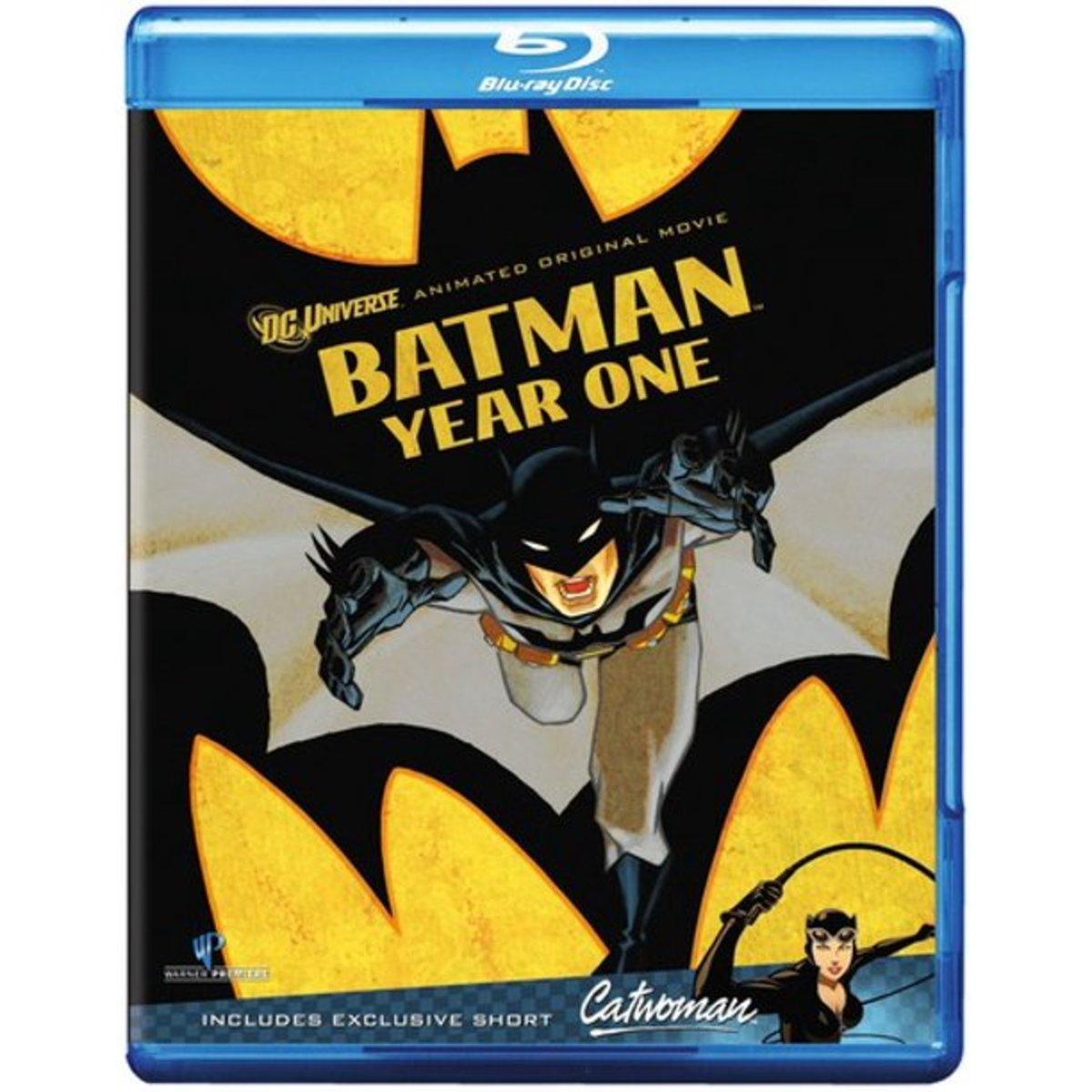 """Batman: Year One"" blu-ray cover art."