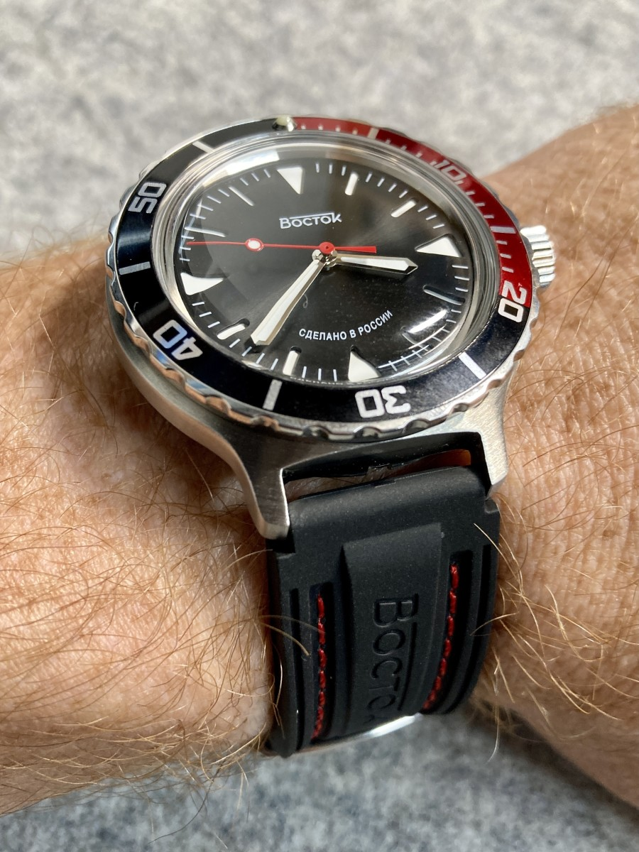 The Vostok Amphibia SE on my 6.5-inch wirst
