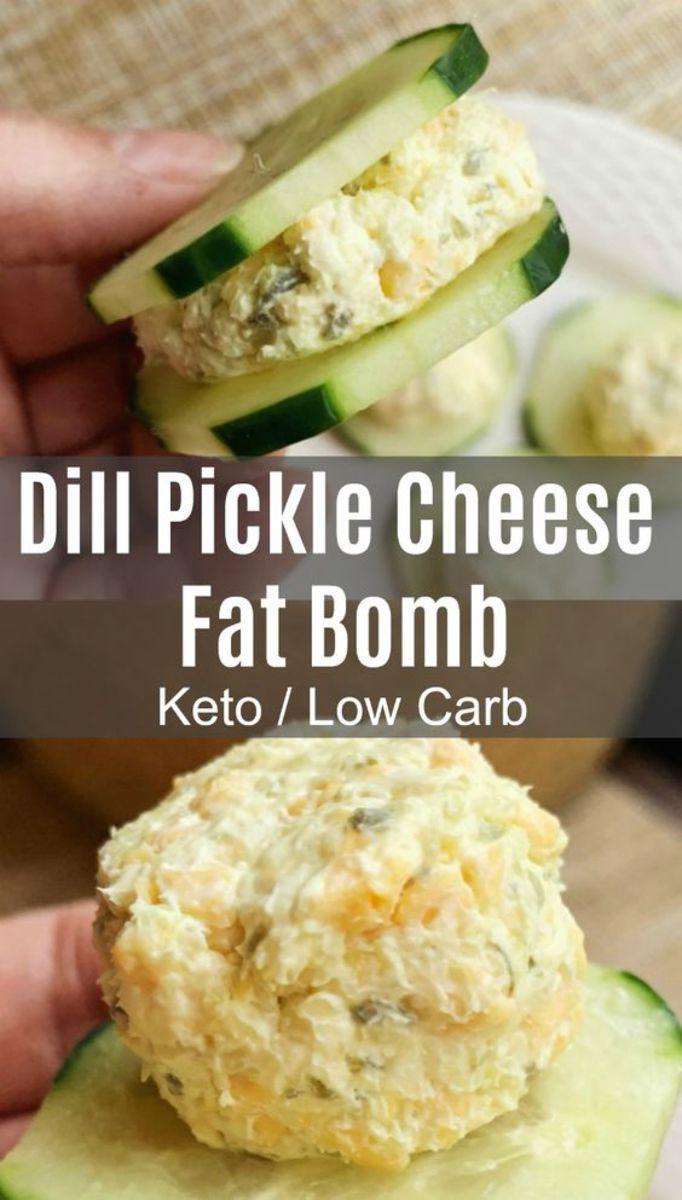 Dill Pickle Cheese Fat Bombs by linneyville.com
