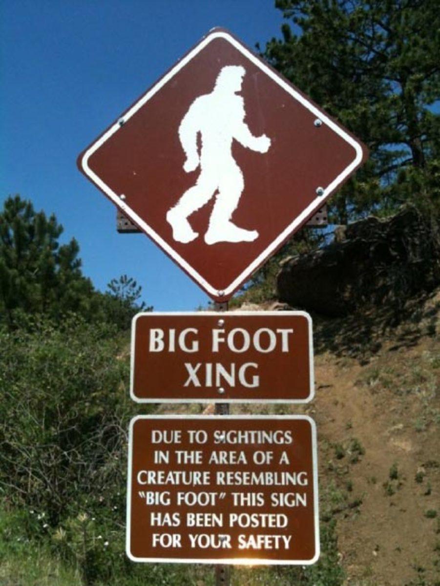 Bigfoot Sign Warning