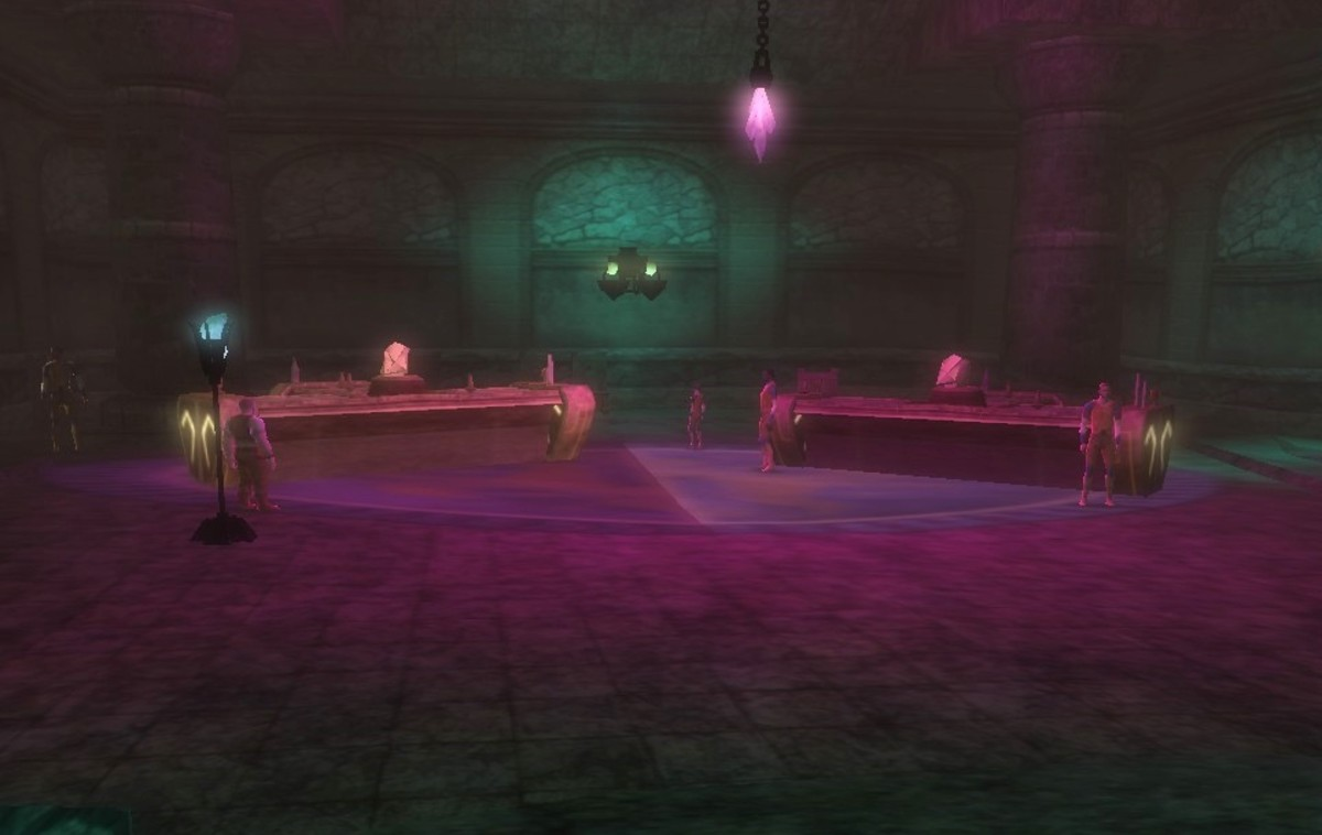 The gambling hall in the Stormreach Harbor quest, Bringing the Light.