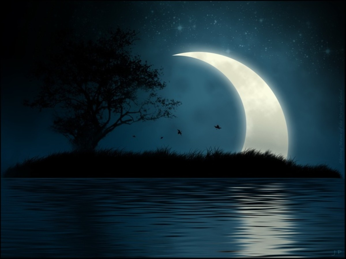 The effect of the Moon on the person's consciousness is like that of the dusk on the eye-sight