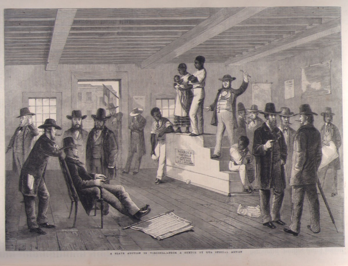 Slave auction in 1861