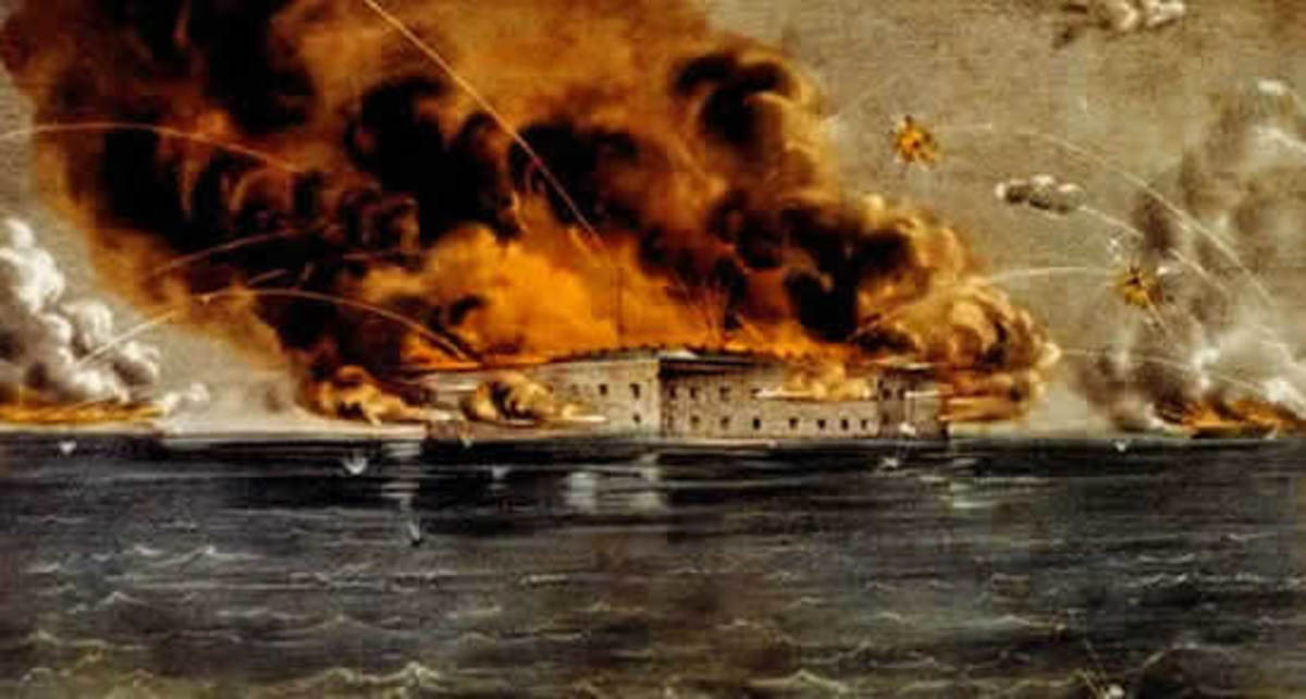 The start of the Civil War, bombardment of Fort Sumter, April 12, 1861