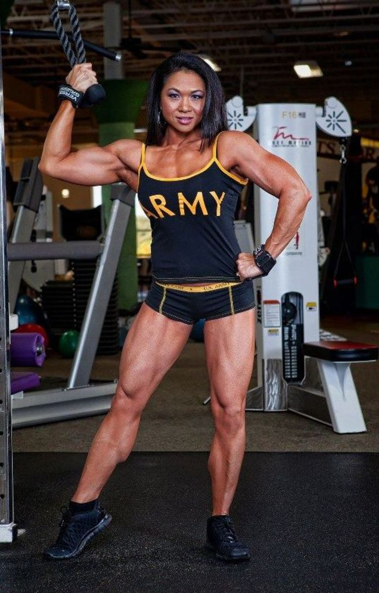 Vietnamese-American fitness model and bodybuilder Janet Gerber Rosa