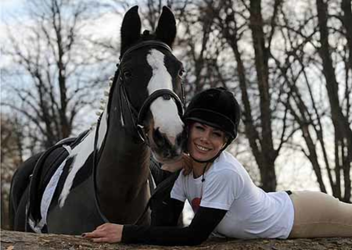 Tara Palmer Tomkinson with her horse
