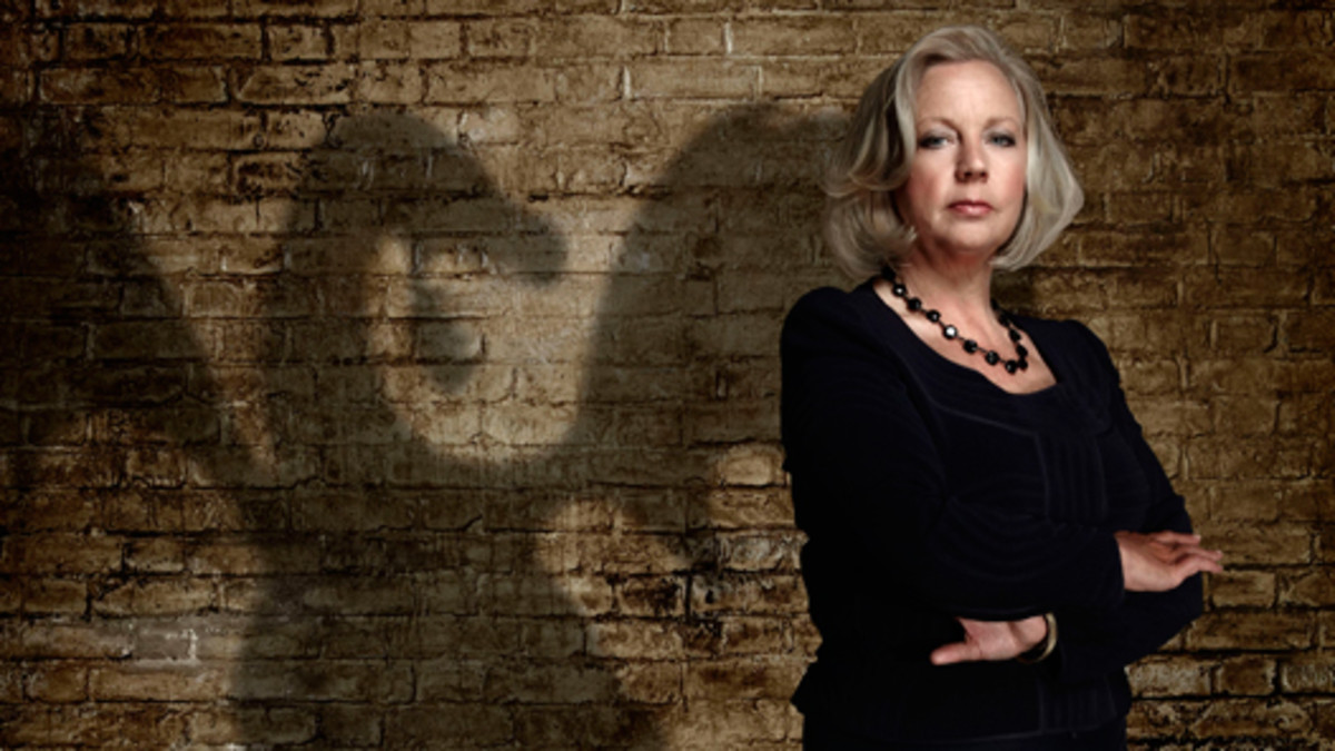 Businesswoman Deborah on the set of Dragons' Den