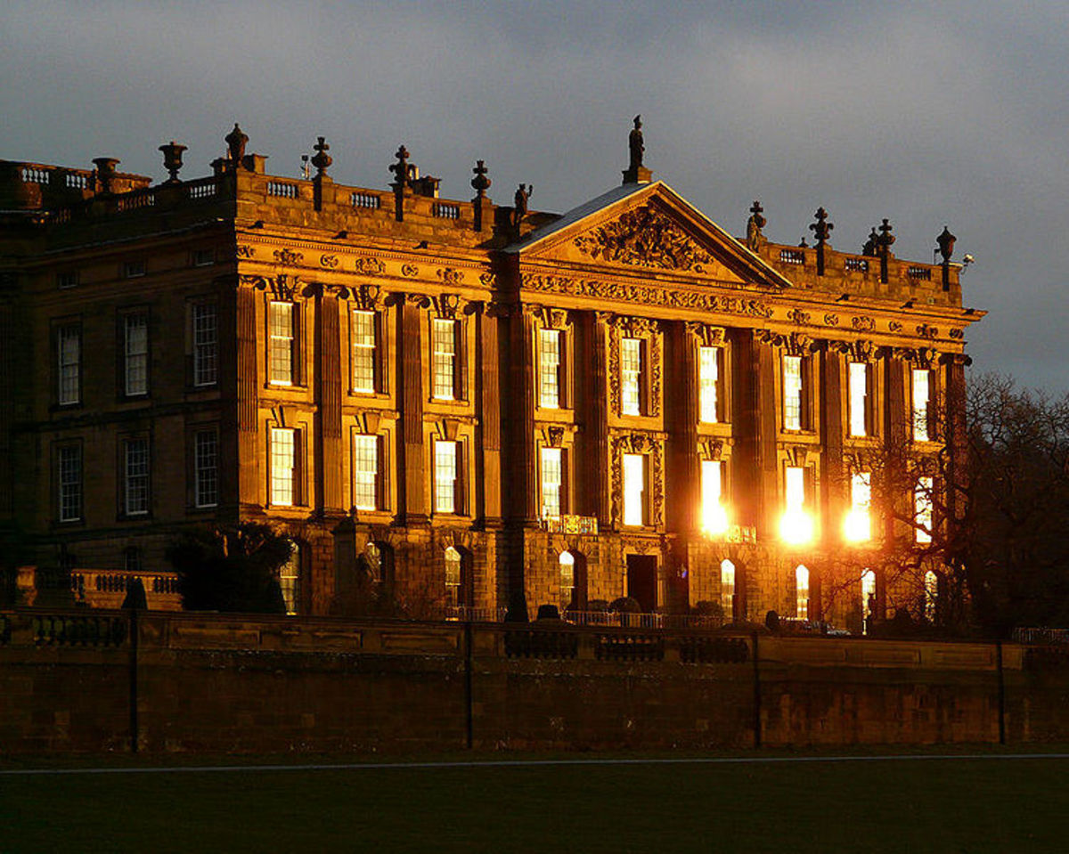 Mr. Darcys estate called Pemberly was filmed at the Chatsworth House in Derbyshire, England.