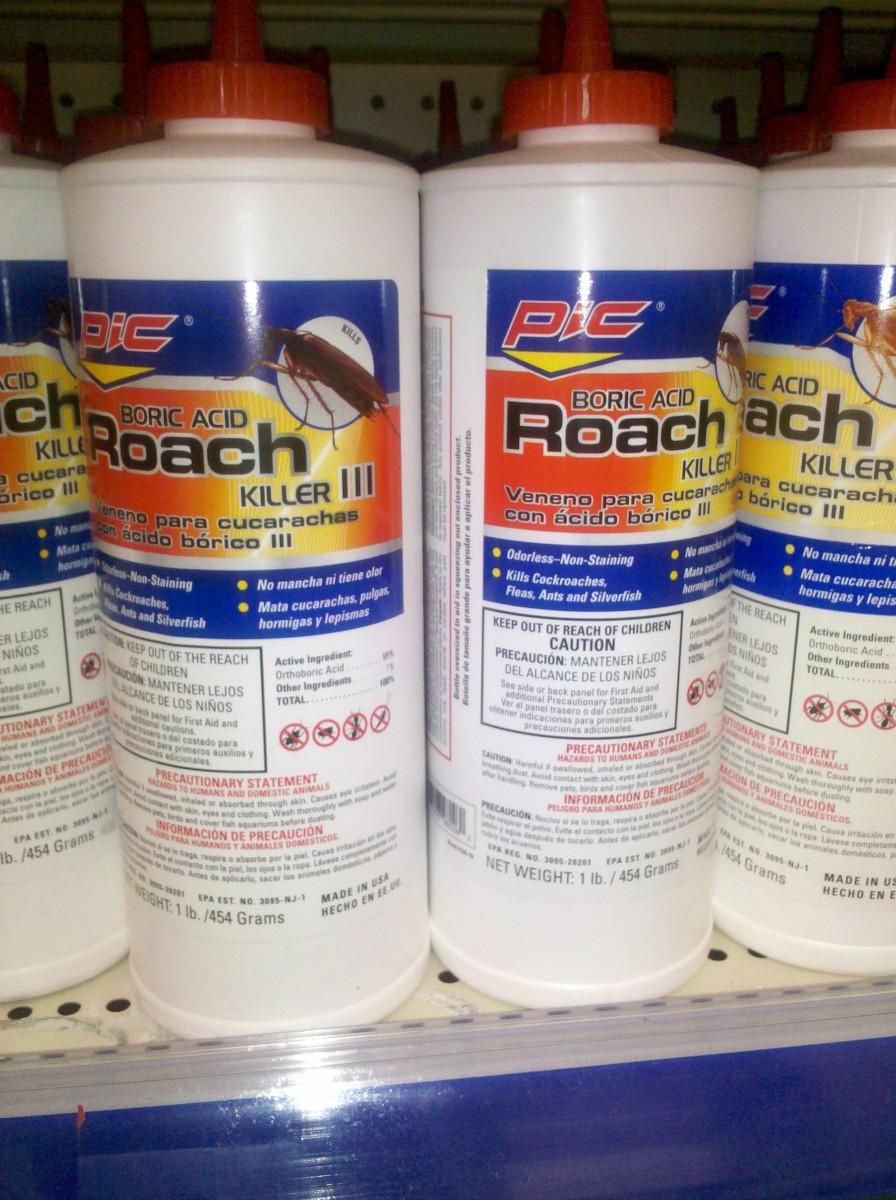 Boric Acid Powder sold as Roach Control formula. (c) kschang 2011, taken at Walgreens