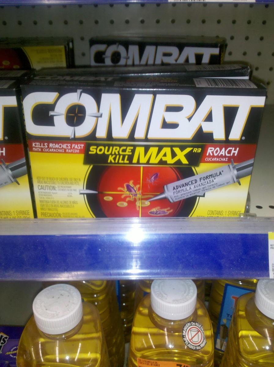 Combat roach control bait gel, somewhat less professional version of roach poison bait gel (c) 2011 kschang, taken at Walgreens