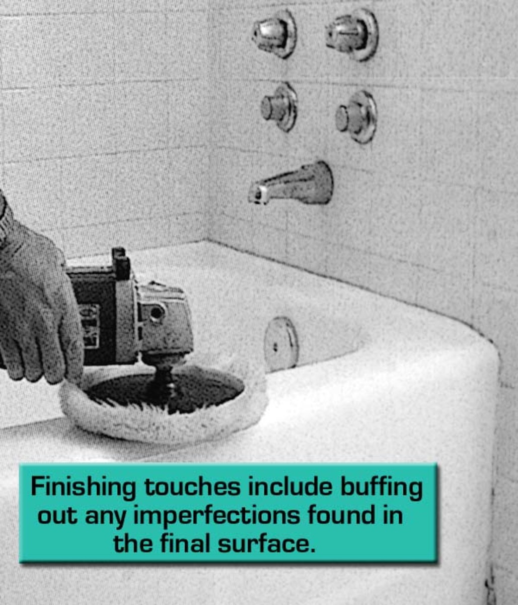 A good buffing to finished surface of your resurfaced bathtub will make look like new!