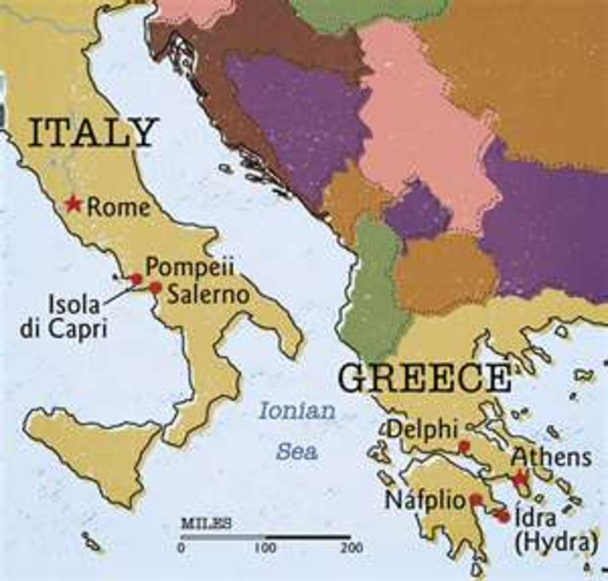 Greek & Roman Cultural Influence in The Mediterranean