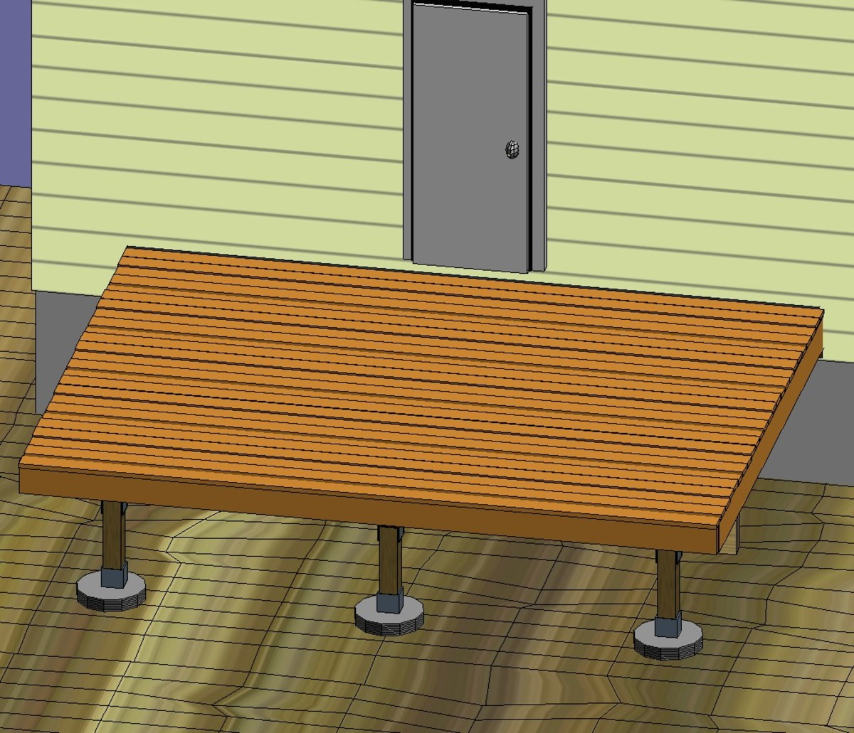 Fig 5.  Complete laying of deck boards