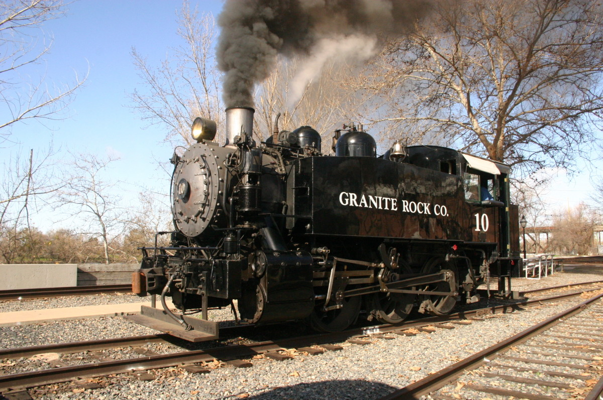 Steam Engine in Old Sacramento, California.