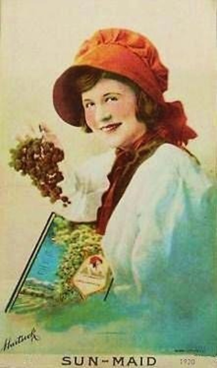 a 1920 Sun-Maid image...I don't know who she is