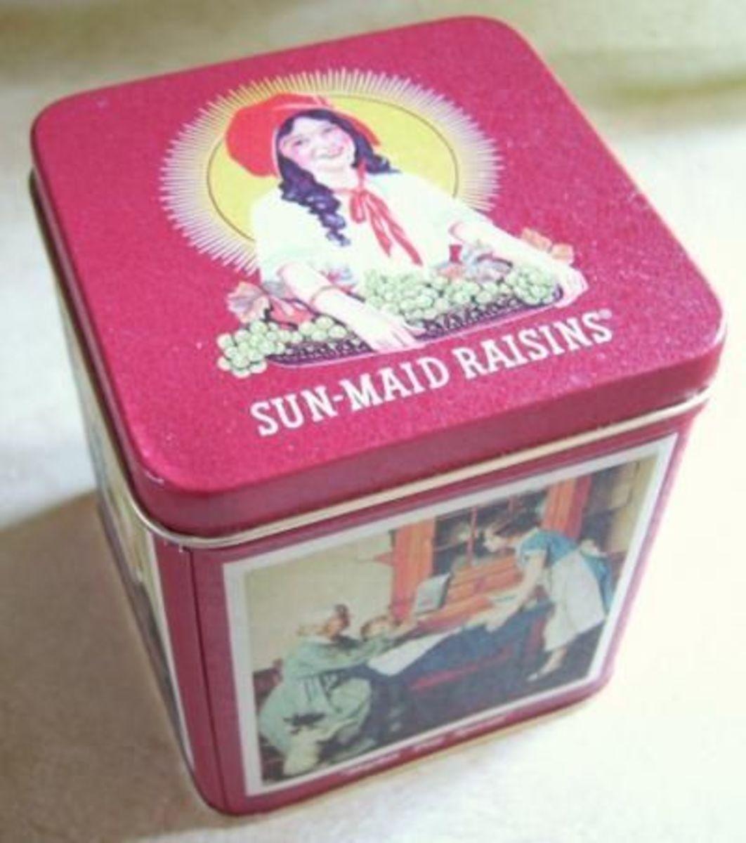 Sun-Maid small Tin