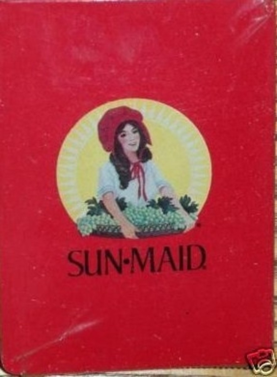 Sun-Maid Playing Cards rare