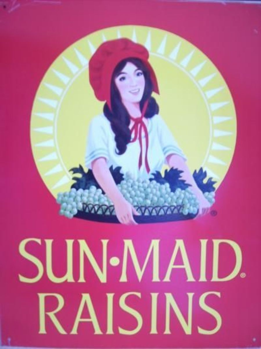 Sun-Maid Tin Sign large