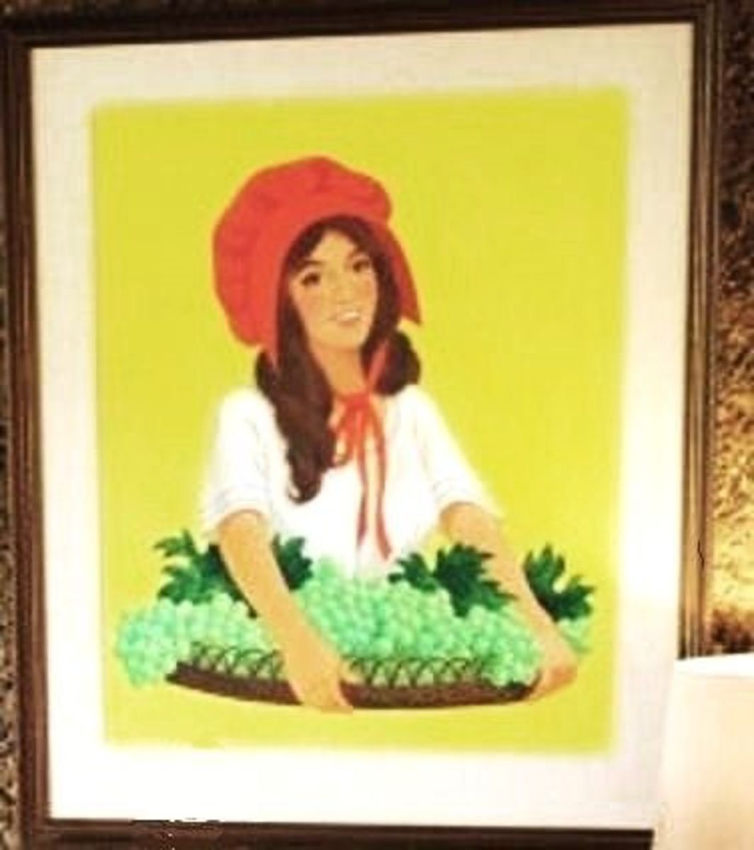 This is the original painting I posed for, it's in the office of the SM Plant