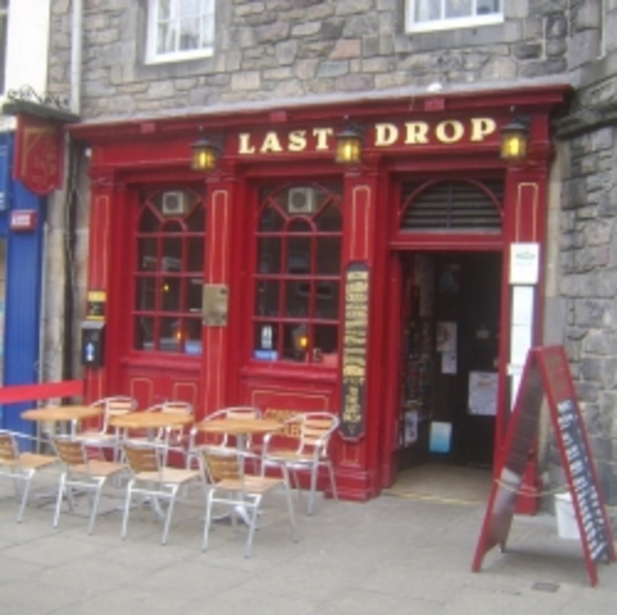 Entrance to The Last Drop Tavern