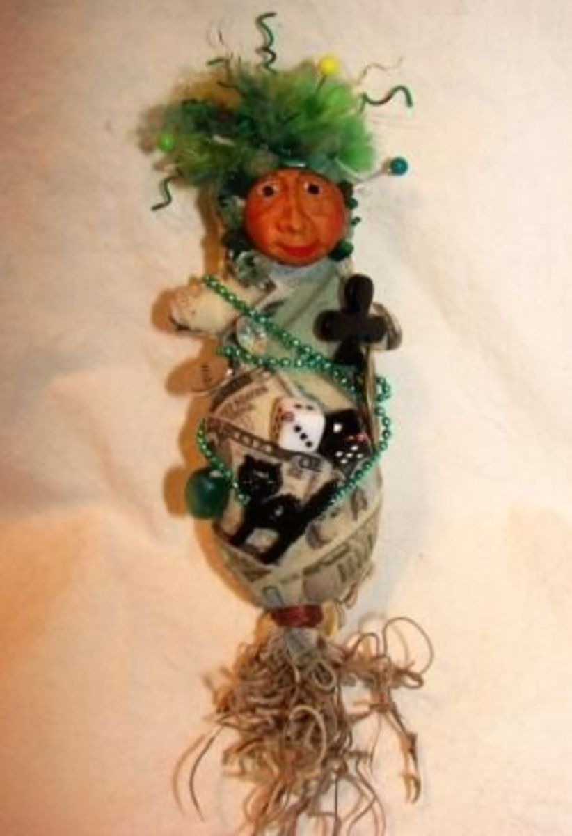 Lucky Voodoo Charm Poppet for Gambling