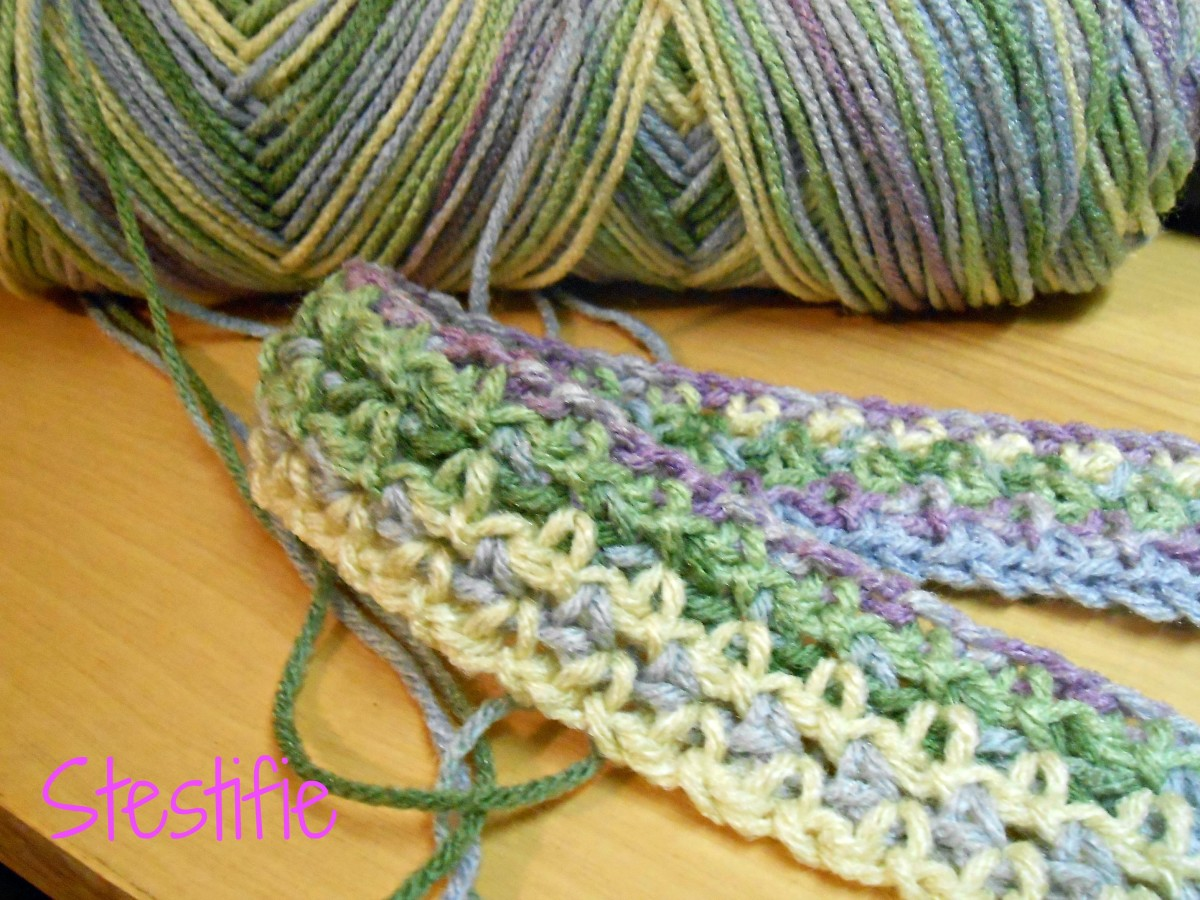 Moss Stitch being used in a baby blankie