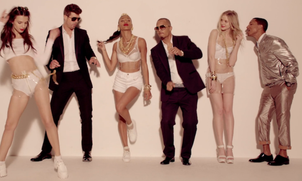 Blurred lines has been dubbed as the most controversial song of the decade due to its lyrics and most of all its music video. Half-naked models and unlikely characters rule the video and support groups claim that is promotes rape.